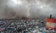 Пламна сметището на Асеновград